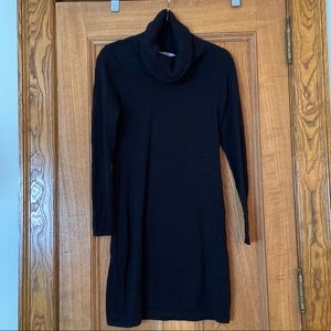 Athleta Black Cowl Neck Sweater Dress
